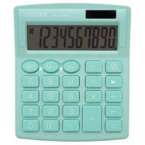 Office calculator CITIZEN SDC-810NRGRE, 10 digits, 127x105mm, green