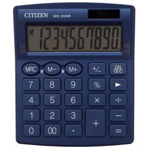 Office calculator CITIZEN SDC-810NRNVE, 10 digits, 127x105mm, navy