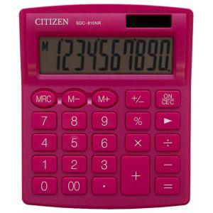Office calculator CITIZEN SDC-810NRPKE, 10 digits, 127x105mm, pink