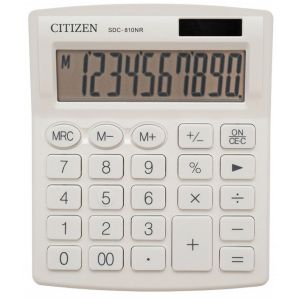 Office calculator CITIZEN SDC-810NRWHE, 10 digits, 127x105mm, white