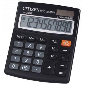 Office calculator CITIZEN SDC-810NR, 10 digits, 127x105mm, black