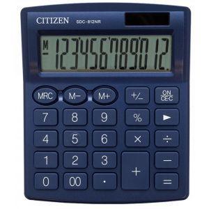 Office calculator CITIZEN SDC-812NRNVE, 12 digits, 127x105mm, navy