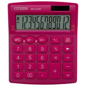 Office calculator CITIZEN SDC-812NRNVE, 12 digits, 127x105mm, pink
