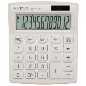 Office calculator CITIZEN SDC-812NRWHE, 12 digits, 127x105mm, white