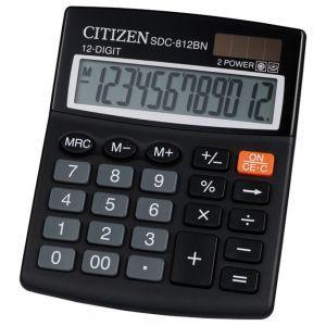 Office calculator CITIZEN SDC-812NR, 12 digits, 127x105mm, black