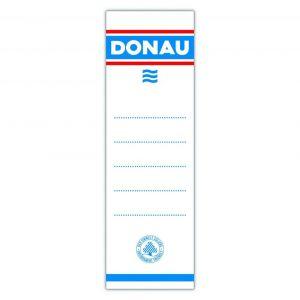 Etykiety samoprzylepne do segregatora DONAU, 54x153mm, jednostronne, 20szt.