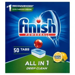 Tabletki do zmywarki FINISH All-in-one P owerball, 50szt., lemon