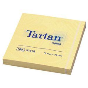Bloczek samoprzylepny TARTAN™ (07676), 7 6x76mm, 1x100 kart., żółty
