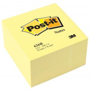 Kostka samoprzylepna POST-IT® (636B), 76 x76mm, 1x450 kart., żółta