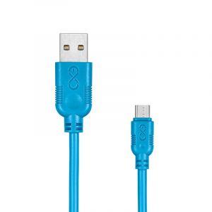 Uniwersalny kabel Micro USB EXC Whippy,  2m, niebieski
