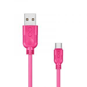 Uniwersalny kabel USB 2.0 do USB-C EXC W hippy, 2m, różowy