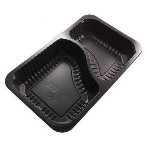 DUNI pojemnik Baseline 1/4 GN op.384szt 260x158x43,7mm czarny, 2-dzielny