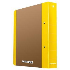 Segregator ringowy DONAU Life, A4/2RD/50 mm, żółty
