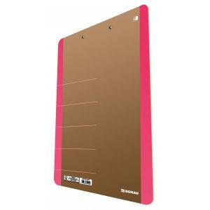 Clipboard DONAU Life, karton, A4, z klip sem, różowy