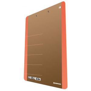 Clipboard DONAU Life, karton, A4, z klip sem, pomarańczowy