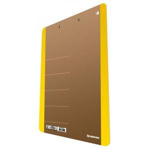 Clipboard DONAU Life, karton, A4, z klip sem, żółty