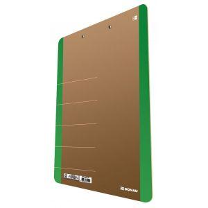 Clipboard DONAU Life, karton, A4, z klip sem, zielony