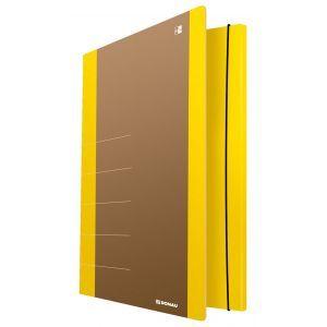 Cardboard folder with elastic band DONAU Life, 500gsm, A4, yellow