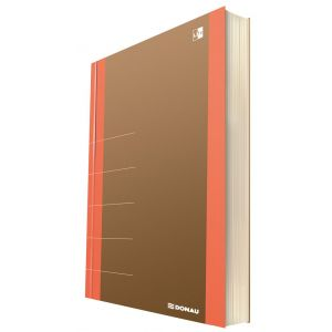 Notatnik DONAU Life, organizer, 165x230m m, 80 kart., pomarańczowy