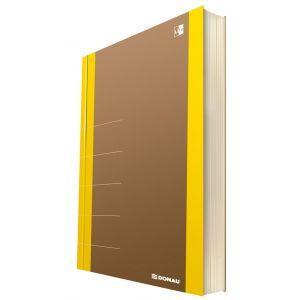 Notatnik DONAU Life, organizer, 165x230m m, 80 kart., żółty