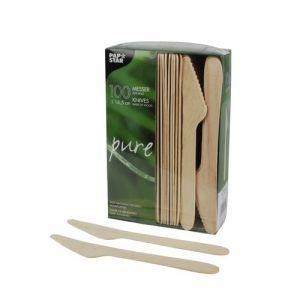 Nóż z drewna 16,5cm op.100szt