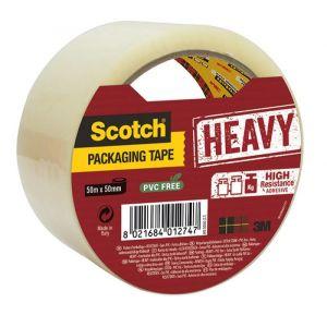 Taśma pakowa do wysyłek SCOTCH® Heavy (H V.5050.S.T), bardzo mocna, 50mm, 50m, tr