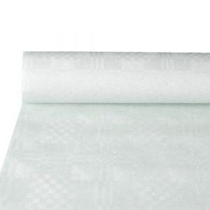 Obrus papierowy jednorazowy szerokość 1,2m długość 9 m biały tłoczony