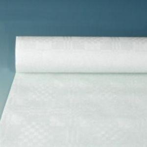 Obrus papierowy 1,2m x 50m biały wytłoczenie damaszkowe