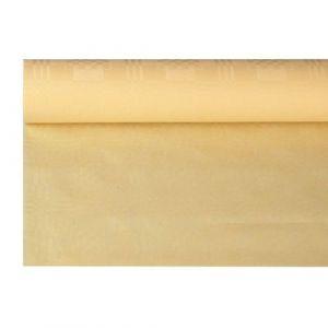 Obrus papierowy 1,2m x 8m kremowy wytłoczenie damaszkowe