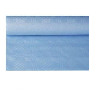 Obrus papierowy 1,2m x 8m jasno niebieski, wytłoczenie damaszkowe