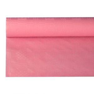 Obrus papierowy 1,2m x 8m różowy, wytłoczenie damaszkowe
