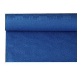 Obrus papierowy 1,2m x 8m ciemny niebieski, wytłoczenie damaszkowe
