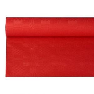 Obrus papierowy 1,2m x 8m czerwony, wytłoczenie damaszkowe