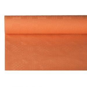 Obrus papierowy 1,2m x 8m terakota, wytłoczenie damaszkowe