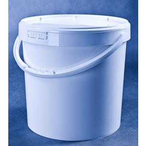 Wiaderko plastikowe PP 18L białe, cena za 1 szt (bez dekla)