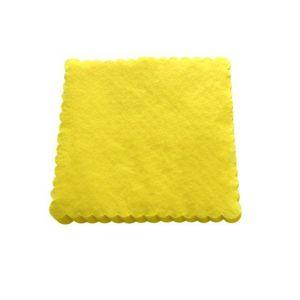 Serwetki 15x15 ząbkowane jasnożółte, opakowanie 200 sztuk