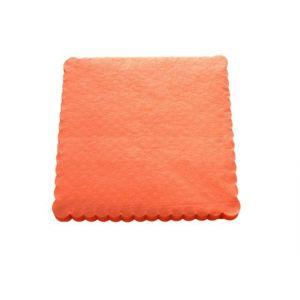 Serwetki 15x15 ząbkowane pomarańczowe, opakowanie 200 sztuk