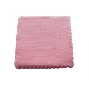Serwetki 15x15 ząbkowane różowe, opakowanie 200 sztuk
