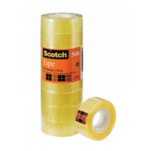 Taśma biurowa ekonomiczna SCOTCH® (508),19mm x 33m, op. 8 sztuk