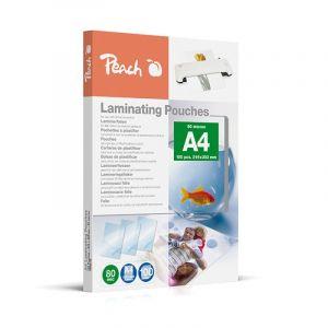 Laminating foil PEACH, A4, 2x80 micron, glossy, 100pcs