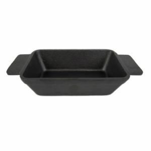 Cast iron mini rectangular dish 13,7x9,2x3,8 cm (k/8)