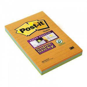 Bloczek samoprzylepny POST-IT® Super Sti cky XXL, w linię (4645-3SSAN ), 101x152m op. 1 szt.