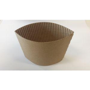Opaska (ochraniacz) papierowa do gorących kubków 0,3-0,4l, cena za 100 sztuk.