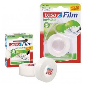 Taśma biurowa TESAfilm Invisible 33m x 19mm z dyspenserem Easy Cut