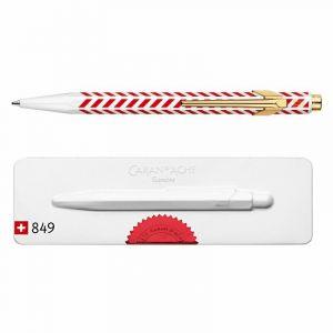 Długopis CARAN D`ACHE 849 Chevron, M, w pudełku, czerwony op. 1 szt.