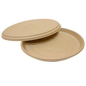 Pudełka pizza trzcina op.50szt. POKRYWKA fi 36,4x1,9cm  (k/3)