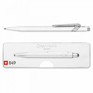 Długopis CARAN D`ACHE 849 Pop Line Fluo,  M, w pudełku, biały op. 1 szt.