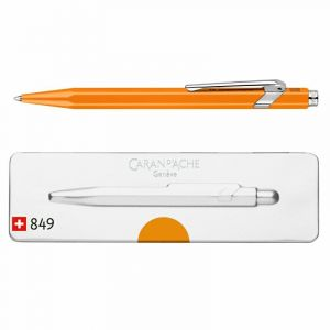 Długopis CARAN D`ACHE 849 Pop Line Fluo, M, w pudełku, pomarańczowy op. 1 szt.