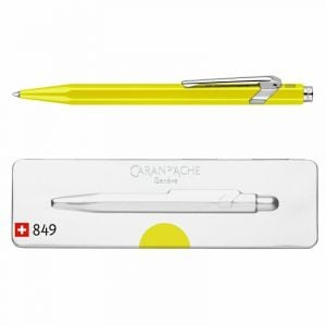 Długopis CARAN D`ACHE 849 Pop Line Fluo, M, w pudełku, żółty op. 1 szt.