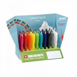 Display długopisów CARAN D`ACHE 888 Infinite, mix kolorów, op. 30 szt.